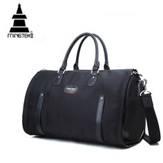 700748b218a Nylon Folding Travel Bag Hand Luggage Business Waterproof Shoulder Suit Bags  Large Capacity Tote Foldable Duffle