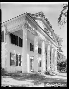 Leroy Pope House, Huntsville, Madison County, Alabama and other family and vintage photos from the past. Put faces to the names of your loved ones at AncientFaces. Old Southern Homes, Southern Plantation Homes, Southern Mansions, Southern Style, Southern Architecture, Revival Architecture, Old Southern Plantations, Antebellum Homes, Madison County