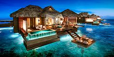 Jamaica Luxury Hotel with Swim-Up Suites - Sandals Royal Caribbean Resort & Spa - Over the Water Private Island Butler Villa with Infinity Pool - OWV