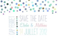 Save the date bleu