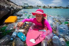 """Rubbish in Maldives island paradise - Shocking photos reveal mountains of plastic bottles ruining Maldives paradise. All rubbish collected in the Maldives is taken to """"Trash Island"""", or Thilafushi, an island landfill made entirely of waste. Plastic In The Sea, Plastic Beach, Ocean Pollution, Plastic Pollution, Honeymoon Island, Surfing Photos, Adventure Tours, Environmental Art, Save The Planet"""