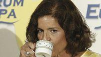 Ana Botella apurá el café con leche de la derrota en la rueda de prensa. Ballesteros / Efe