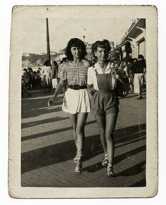 Biarritz, 1948 by perispomene, via Flickr