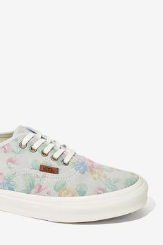 Pale Floral Suede shoes / by Vans
