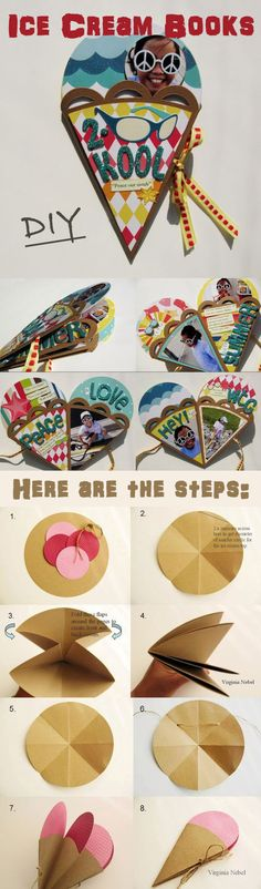 DIY – Ice Cream Cone Books/Cards