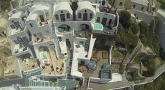 Sophia Luxury Suites @ Santorini as seen from an eagle's eye!