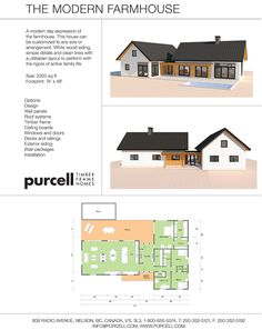 Purcell Timber Frames – Full Home Packages and Prefabricated Houses – The Modern… – farmhouse plans Farmhouse Dining Room Set, Modern Farmhouse Porch, Modern Farmhouse Lighting, Farmhouse Frames, Basement House Plans, New House Plans, House Floor Plans, Timber Frames, Timber Frame Homes