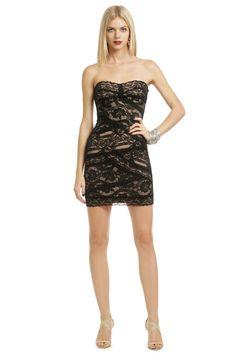 Nicole Miller Noir Lace Cocktail Dress