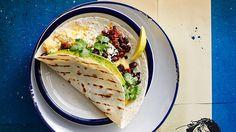 Tortillas with cheese, beans and chorizo (baleadas) recipe : SBS Food
