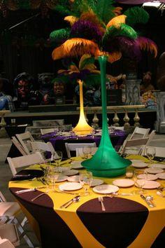 DIY Mardi Gras Centerpiece with