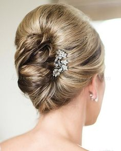 Half Updos for Mother of the Bride   french twist hairstyles for brides - french twist updo   Hairstyles ...
