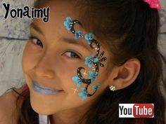 Fast Faces - Flower Cheek Art Face Painting - YouTube