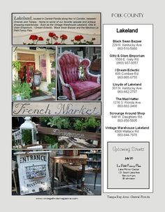 County by County listings, Vintage Finds Magazine