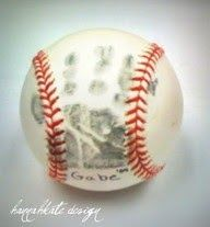 First year of tee ball...do his handprint, name, and year! Love this idea!!!