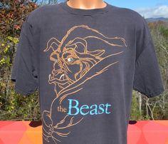 vintage 90s t-shirt disney beauty and the BEAST by skippyhaha