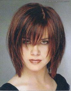 Choppy Bob Hairstyle   Love the color