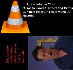 RETOUCHE VIDEO / VLC / Remettre une vidéo à l'endroit avec VLC