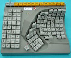 Maltron Single-Handed keyboard is designed to be used by a single hand  - up to 85 words per minute with one hand!