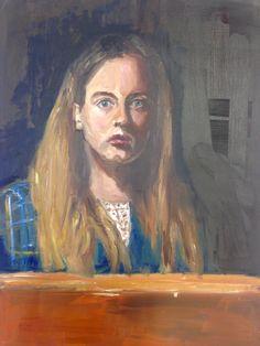 Self portrait by Mel M. Oil paint on oil painting paper. A Level Art, Painted Paper, Concept, Oil, Portrait, Painting, Headshot Photography, Painting Art, Portrait Paintings