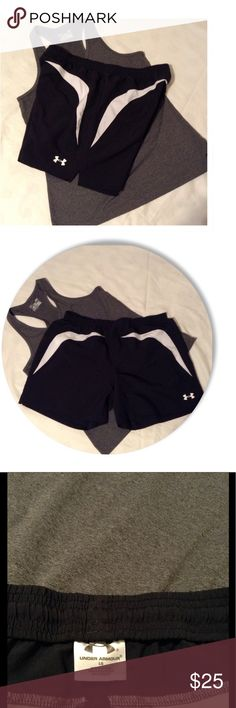 Under Armour Shorts *Sporty Under Armour Black and white shorts.  *Internal elastic waistband with drawstring has  customizable comfort. * Great for excising,walking,running,the beach, or just for fun😊 Bundle and save. Under Armour Shorts