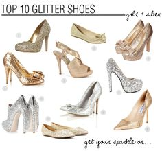 Top 10 Glitter Wedding Shoes | Bridal Musings