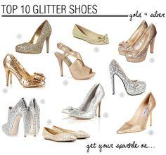 Top 10 Glitter Wedding Shoes   Bridal Musings