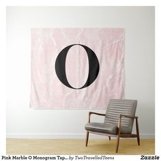 Pink Marble O Monogram Tapestry Marble Tapestry, Pink Marble, Christmas Card Holders, Bed Spreads, Vivid Colors, Picnic Blanket, Monogram, Prints, Home Decor
