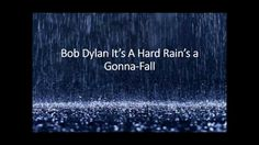 """33) BOB DYLAN - A Hard Rain's A-Gonna Fall. Written in response to the Cuban Missiles Crisis of 1962, in the words of Dylan himself """"Every line in it is actually the start of a whole new song. But when I wrote it, I thought I wouldn't have enough time alive to write all those songs so I put all I could into this one."""" The cover of this song by Bryan Ferry was my introduction to Bob Dylan, and this may be heresy, but I'd say Bryan's version just about shades Bob's."""