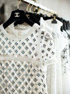 Racks on racks on racks of Chanel.