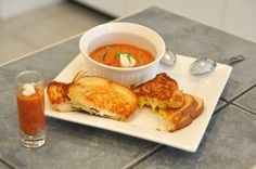 Roasted Tomato Soup With Toasted Cheese & Herb Sandwiches – $10 or Less Meal (For A Family of 4)