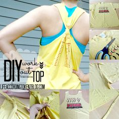 Life According to Kenz: DIY Workout Top In 9 Easy Steps