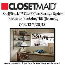 We're Parents!?: New Home, New Roots: Closetmaid Complete Office Storage Kit Review & Giveaway