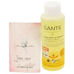 SANTE - Eye Make-up Remover with Almond Oil and Pomegranate Extract - Even removes waterproof make-up Makeup Remover Towel, Homemade Makeup Remover, Eye Make-up Remover, Make Up Remover, Waterproof Makeup, Remove Makeup From Clothes, Pomegranate Extract, Eye Make Up, Organic Beauty