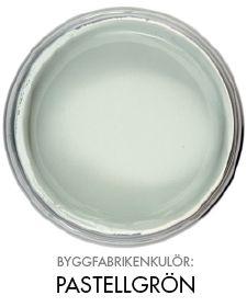 Byggfabrikenkulör pastellgrön http://www.byggfabriken.com/sortiment/farg-och-ytbehandling/ekologisk-vaeggfaerg/