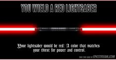 Each lightsaber color represents its owners strength, desires, and alignment. Take this quiz to find out which color yours would be! Leia Star Wars, Star Wars Darth, Darth Maul, Star Trek, Lightsaber Colors, Lightsaber Hilt, Star Wars Quotes, Star Wars Humor, Deadpool Action Figure