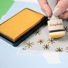 Scrapbook.com - Premium Pigment Ink Pad - Metallic Gold Brush Markers, Alcohol Markers, Scrapbook Layouts, Scrapbook Pages, Ink Pad Storage, Ranger Ink, Touch Of Gold, Ink Pads, Distress Ink