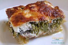 Rakott brokkoli Fruits And Vegetables, Vegetable Recipes, Lasagna, Food Inspiration, Quiche, Paleo, Food And Drink, Dishes, Vaj