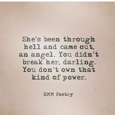 I came out the angel because I was always pure at heart.