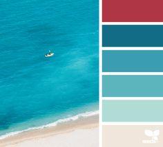 Kleurinspiratie op het strand.