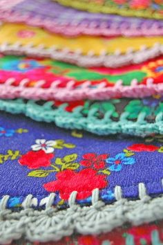 Crocheted edging for...pillows, blankets, placemats, and more!