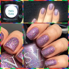 SV by Sparkly Vernis - Hello Cutie Holographic Nail Polish, My Nails, Product Launch, Glitter, Nail Art, Purple, Pretty, Instagram Posts, Beauty