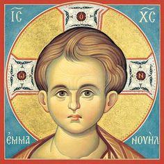 Εμμανουηλ Byzantine Icons, Byzantine Art, Religious Icons, Religious Art, Paint Icon, Russian Icons, Religious Paintings, Jesus Art, Learn Art