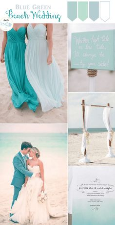 Blue green Beach Wedding Inspiration