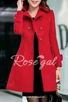 109681a2027 Elegant Turn-Down Collar Long Sleeves Cape Coat For Women - RED S Mobile  Women s