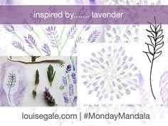 This weeks #mondaymandala is inspired by lavender. #mixedmediamandalas http://louisegale.com/workshops/mixed-media-mandala-online-class/