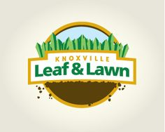 Knoxville Leaf Lawn Service Logo Landscaping Company