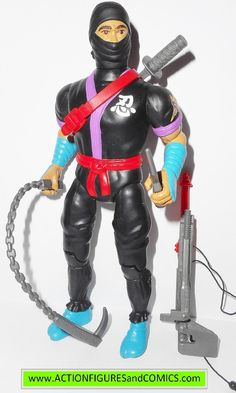 RAMBO action figures BLACK DRAGON NINJA 1986 coleco vintage force of freedom 99p
