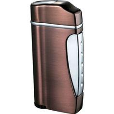 Visol Nolet Single Jet Flame Cigar Lighter - Satin Bronze. Comes with #free engraving!