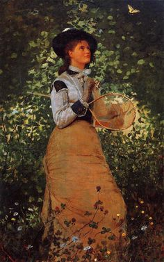 """The Butterfly Girl"" - Winslow Homer"