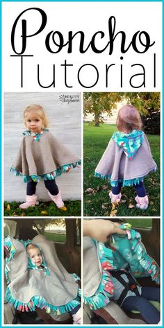 THE BEST Car Seat Poncho Tutorial - Fleece-lined! {Reality Daydream} This cozy carseat poncho is perfect as a jacket or coat for kids or babies, and is fairly easy to make with this tutorial! Simple Dress For Girl, Simple Dresses, Love Sewing, Sewing For Kids, Sewing Hacks, Sewing Crafts, Sewing Tips, Sewing Ideas, Baby Sewing Tutorials